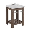 allen + roth Strabury Specialty Driftwood Integral Single Sink Bathroom Vanity with Cultured Marble Top (Common: 24-in x 21-in; Actual: 24-in x 21.5-in)