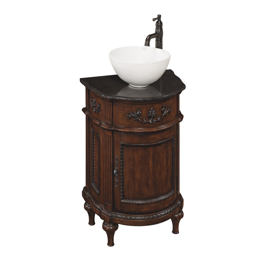 Shop Style Selections Vinton Sienna Vessel Single Sink Bathroom Vanity