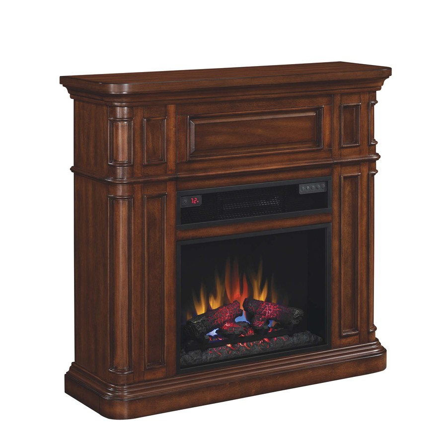 Shop Duraflame 43 In W 5 200 Btu Premium Pecan Birch Wood Wall Mount Electric Fireplace With