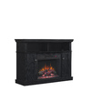 Style Selections 46.25-in W 4,600-BTU Black Wood Corner Fan-Forced Electric Fireplace with Thermostat and Remote Control