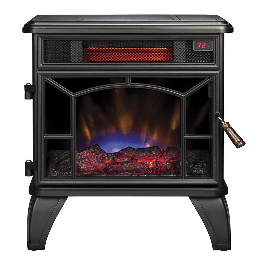 Shop Style Selections W 5200 Btu Black Metal Infrared Quartz Electric Stove With