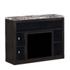 ClassicFlame Adams Coffee Black Rectangular Fireplace TV Stand