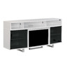 ClassicFlame Enterprise High Gloss White Rectangular Fireplate Television Stand