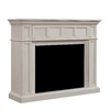 Chimney Free 55-in W x 44-in H Weathered White Poplar Traditional Fireplace Surround
