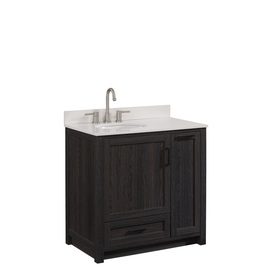 Display Product Reviews For Goodson Black Walnut Undermount Single Sink Bathroom  Vanity With Engineered Stone Top