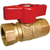 AMERICAN VALVE 1-in Brass Female In-Line Gas Ball Valve