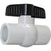 AMERICAN VALVE 1-in PVC Sch 40 Socket In-Line Ball Valve