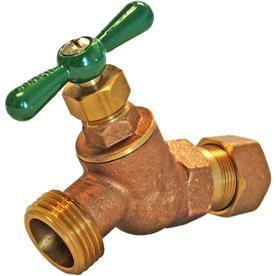 AMERICAN VALVE 1/2-in Compression Brass No-Kink Hose Bibb