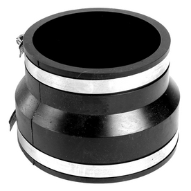 AMERICAN VALVE 6-in x 4-in Dia Flexible PVC Coupling Fittings