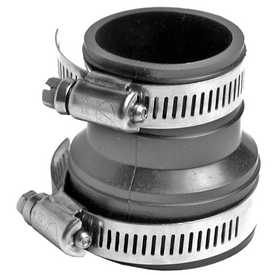 AMERICAN VALVE 2-in x 1-1/2-in Dia Flexible PVC Connector Trap Fittings