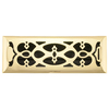 allen + roth Victorian Polished Brass Steel Floor Register (Rough Opening: 4-in x 12-in; Actual: 5.36-in x 13.39-in)