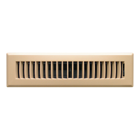 Accord Louvered Taupe ABS Resin Floor Register (Rough Opening: 2-in x 12-in; Actual: 13.39-in x 3.62-in)