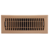 Accord Louvered Taupe ABS Resin Floor Register (Rough Opening: 4-in x 12-in; Actual: 13.39-in x 5.36-in)