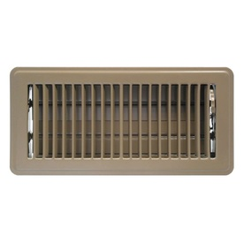 "Accord 4"" x 8"" Brown Mobile Home Louvered Floor Register"