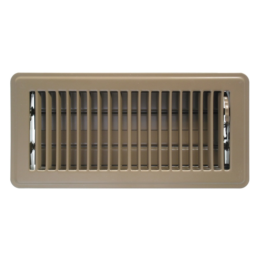 Accord Ventilation Brown Floor Register (Duct Opening: 4-in X 10-in; Outside: 5.5-in X 11.5-in) In The Floor Registers Department At Lowes.com