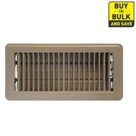 Accord Louvered Brown Steel Floor Register (Rough Opening: 4-in x 10-in; Actual: 5.51-in x 11.48-in)
