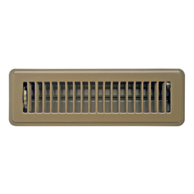 Accord Louvered Brown Steel Floor Register (Rough Opening: 2-in x 12-in; Actual: 3.78-in x 13.5-in)