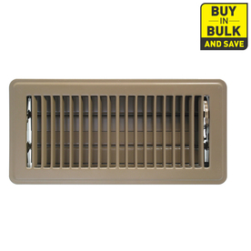 Accord Louvered Brown Steel Floor Register (Rough Opening: 4-in x 12-in; Actual: 5.51-in x 13.52-in)