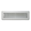 Accord Louvered White Steel Floor Register (Rough Opening: 2-in x 10-in; Actual: 3.76-in x 11.53-in)