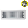 Accord Louvered White Steel Floor Register (Rough Opening: 4-in x 12-in; Actual: 5.51-in x 13.5-in)
