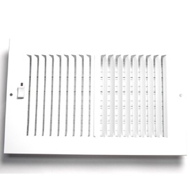 Accord White Aluminum Sidewall/Ceiling Register (Rough Opening: 14-in x 6-in; Actual: 15.77-in x 7.76-in)