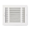 Accord 4-in x 8-in White 3-Way Sidewall/Ceiling Register