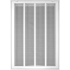Accord 520 Series White Steel Louvered Sidewall/Ceiling Grilles (Rough Opening: 16-in x 20-in; Actual: 18.57-in x 22.6-in)