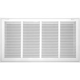 Accord Filter White Steel Louvered Sidewall/Ceiling Grille (Rough Opening: 24-in x 12-in; Actual: 26.57-in x 14.57-in)