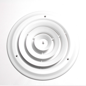Accord White Steel Ceiling Diffuser (Rough Opening: 6-in x 6-in; Actual: 8.5-in x 8.5-in)
