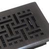 allen + roth Wicker Oil-Rubbed Bronze Steel Floor Register (Rough Opening: 4-in x 10-in; Actual: 5.36-in x 11.38-in)