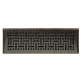 allen + roth Wicker Oil-Rubbed Bronze Steel Floor Register (Rough Opening: 4-in x 12-in; Actual: 5.36-in x 13.39-in)