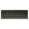 allen + roth Wicker Oil-Rubbed Bronze Steel Floor Register (Rough Opening: 4-in x 12-in; Actual: 5.36-in x 13.39-in)