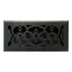 allen + roth Victorian Matte Steel Floor Register (Rough Opening: 4-in x 10-in; Actual: 5.39-in x 11.42-in)