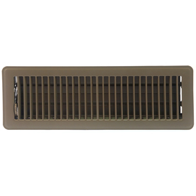 Accord Louvered Brown Steel Floor Register (Rough Opening: 4-in x 14-in; Actual: 5.51-in x 15.51-in)