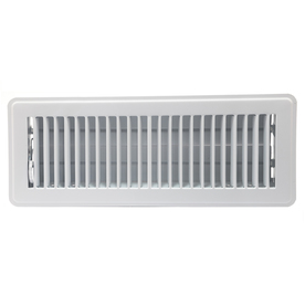 Accord Louvered White Steel Floor Register (Rough Opening: 4-in x 14-in; Actual: 5.51-in x 15.56-in)