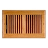 Accord Oak Stained Wood Sidewall/Ceiling Register (Rough Opening: 10-in x 6-in; Actual: 11.5-in x 7.48-in)