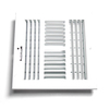 Accord White Steel Sidewall/Ceiling Register (Rough Opening: 8-in x 8-in; Actual: 9.77-in x 9.77-in)