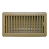 Accord Louvered Brown Steel Floor Register (Rough Opening: 6-in x 10-in; Actual: 7.6-in x 11.58-in)
