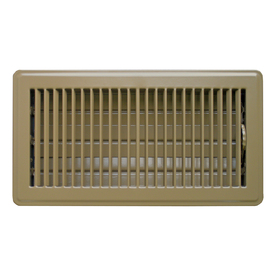 Accord Louvered Brown Steel Floor Register (Rough Opening: 6-in x 12-in; Actual: 7.52-in x 13.5-in)