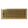 allen + roth Wicker Antique Brass Steel Floor Register (Rough Opening: 4-in x 12-in; Actual: 5.36-in x 13.37-in)
