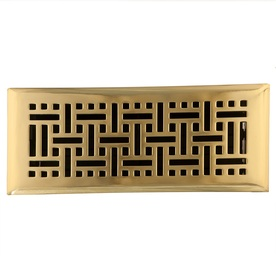 allen + roth 4-in x 10-in Polished Brass Floor Register