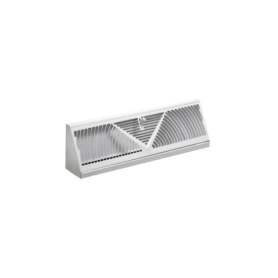 Shop Accord 24-in x 2.75-in White Steel Baseboard Register at Lowes
