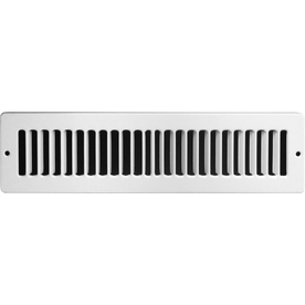 Accord 2-in x 12-in White Steel Toe Space Grille