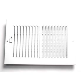 Accord 5-in x 12-in White Steel 2-Way Sidewall/Ceiling Register
