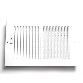 Accord 8-in x 16-in White Steel 2-Way Sidewall/Ceiling Register