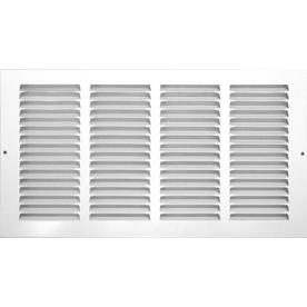 Accord 12-in x 36-in White Steel Return Grille