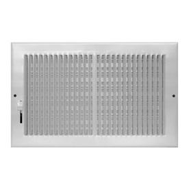 Accord 6-in x 12-in White Steel Baseboard Register