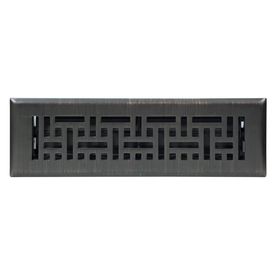 Accord Wicker Oil-Rubbed Bronze Steel Floor Register (Rough Opening: 10-in x 2-in; Actual: 11.42-in x 3.6-in)