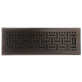 allen + roth Wicker Oil-Rubbed Bronze Steel Floor Register (Rough Opening: 4-in x 14-in; Actual: 5.37-in x 15.42-in)