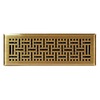 allen + roth Wicker Antique Brass Steel Floor Register (Rough Opening: 4-in x 14-in; Actual: 5.37-in x 15.42-in)